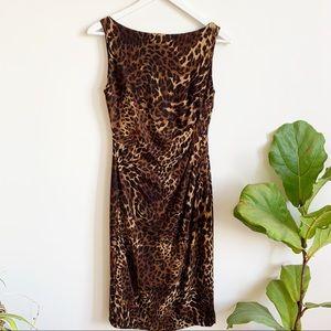 Lauren Ralph Lauren Brown Leopard Print Dress 4